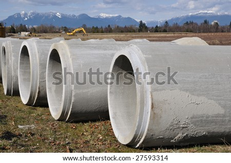 a line of pipe - stock photo