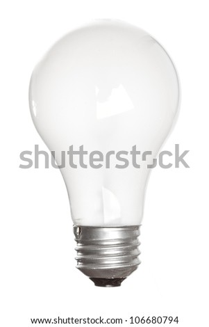 A Lit up lightbulb against a background - stock photo
