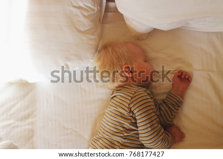 Child Asleep Bed Laying Stock Images Royalty Free Images