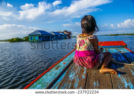 a little girl on a boat
