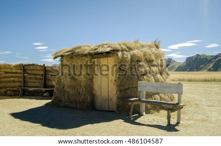 A little thatched house