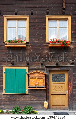 a little village in Switzerland - stock photo