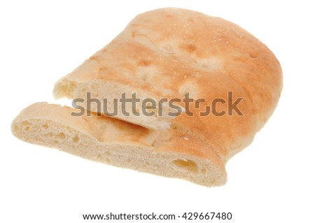 A loaf of Turkish Bread isolated on a white background