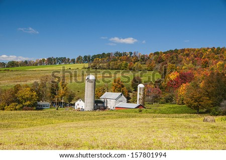 A local farm in upstate NY - stock photo