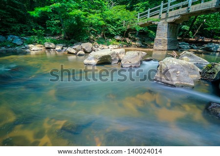 A Long Exposure in Rock Creek Park, Washington DC - stock photo