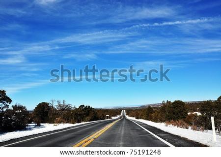 A long long way in a beautiful day - stock photo