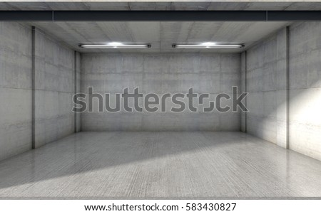 Empty Garage Inside