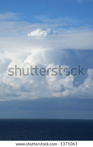 A look west from danish shores - stock photo