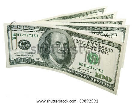 a lot a lot of money  , Isolated on white background