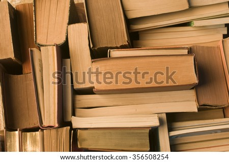 a lot of books view from above  - stock photo