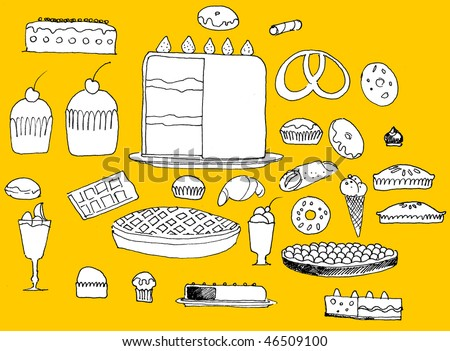 A lot of cakes and sweetes Copyright © Kamigami - stock photo