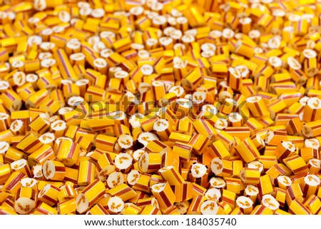 A lot of candies in candy factory  - stock photo