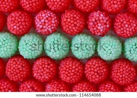 A lot of candy - stock photo