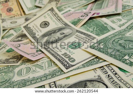 A lot of cash US dollars. - stock photo