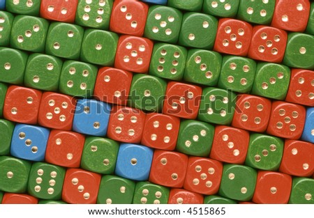 a lot of colorful dices as a surface