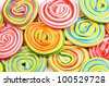 A lot of colorful lollipops for background - stock photo