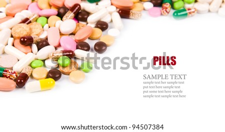 a lot of colorful pills background