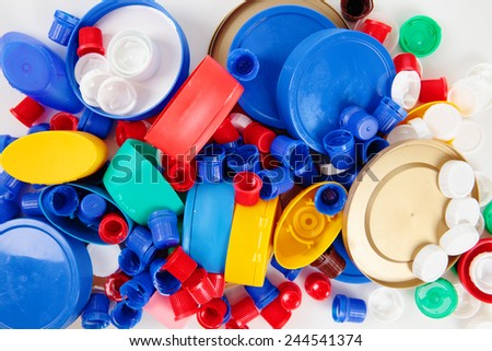 a lot of cups with variety of colors and sizes - stock photo