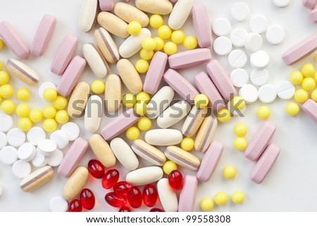 a lot of different drugs and tablets