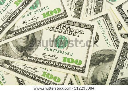 A lot of dollars.Highly detailed picture of American money