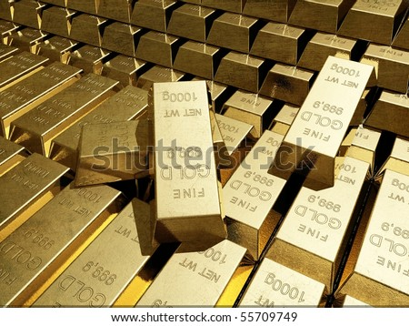 A lot of gold bars