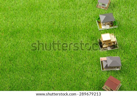 A lot of houses, green of nature
