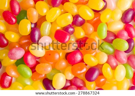 a lot of jelly beans - stock photo