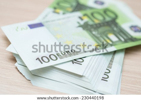 A lot of money (euro banknotes) - stock photo
