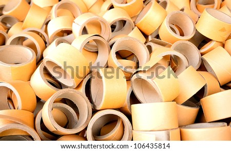 A lot of Paper Core/Paper Tube - stock photo