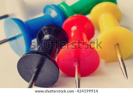a lot of pins macro - stock photo