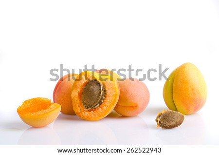 a lot of ripe apricots
