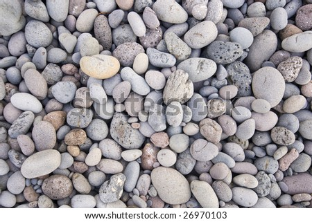 a lot of rolling stones - stock photo