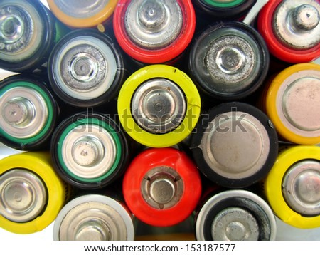 A lot of the batteries