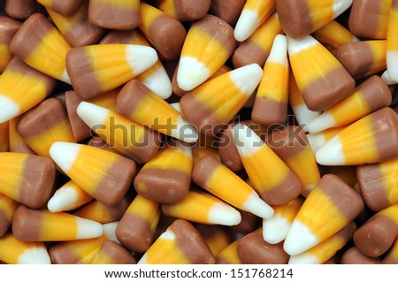 a lot of tooth corn candies for background