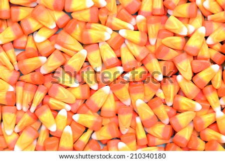 a lot of tooth corn candies for background  - stock photo