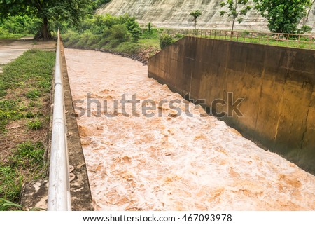 A lot of water is released from the floodgates for agriculture.