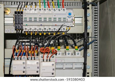 wires switches electric box electrical isolation stock photo rh shutterstock com electrical box wiring diagram electric box install