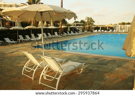 a loungers by the pool
