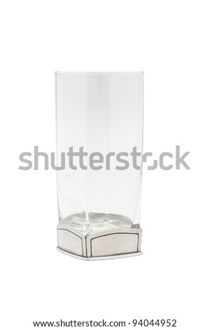 A luxury glass decorated by pewter