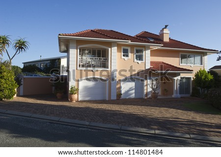 A luxury Holiday Home on South Africa's Garden Route - stock photo