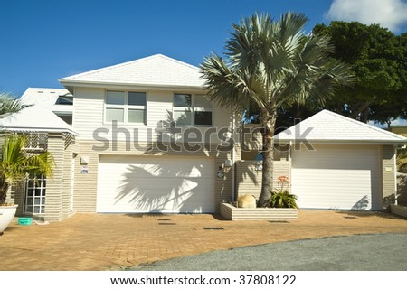 A luxury house stands proud - stock photo