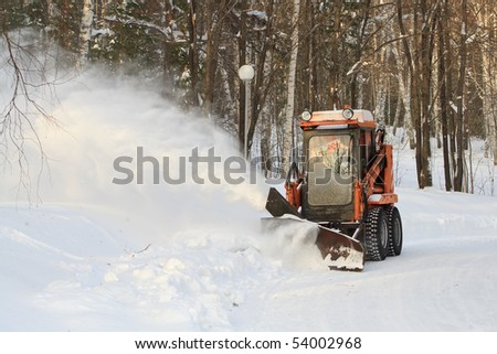 A machine for snow removal