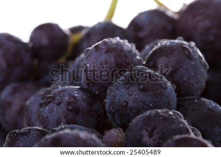 a macro detail of fresh grapes