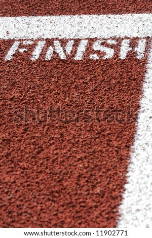 a macro picture of a track and field venue - stock photo