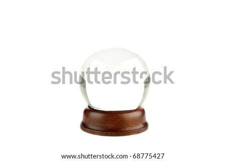 a magic crystal ball isolated on white - stock photo