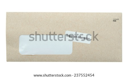 A mail post isolated - stock photo