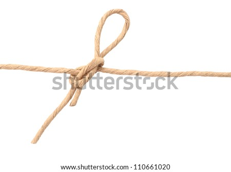 A mail wrapping rope on white