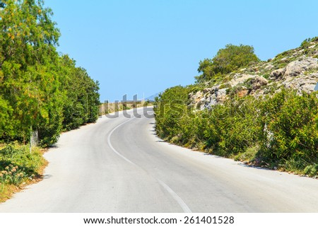 A majestic road near the seaside - stock photo