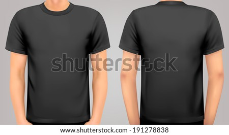 A male body with a black shirt on. Raster version - stock photo