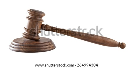 a mallet is isolated on a white background - stock photo